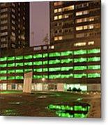 City At Night Urban Abstract Metal Print