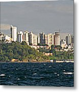 City At The Waterfront, Salvador Metal Print