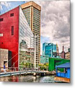 City - Baltimore Md - Harbor Place - Future City  Metal Print