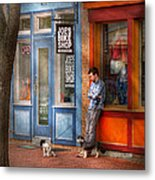 City - Baltimore Md - Waiting By Joe's Bike Shop  Metal Print