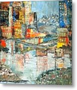 City By The River - Sold Metal Print