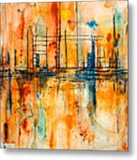 City By The Sea IIi Metal Print