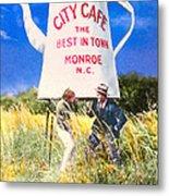 City Cafe - Nostalgic Monroe North Carolina Metal Print