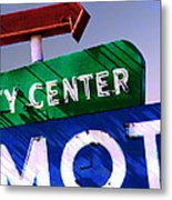 City Center Motel Metal Print by Gail Lawnicki