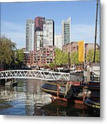 City Centre Of Rotterdam In Netherlands Metal Print