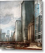 City - Chicago Il -  Building A New City Metal Print
