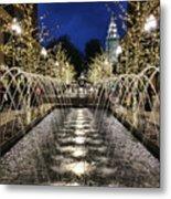 City Creek Fountain - 2 Metal Print