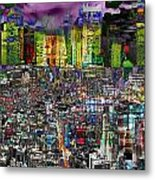 City Dawn Art Cityscape  Metal Print