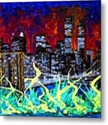 City Escape By Darryl Kravitz Metal Print