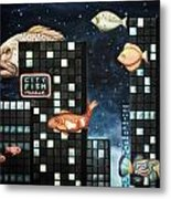 City Fish Edit 2 Metal Print