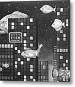 City Fish Edit 3 Metal Print
