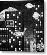 City Fish Edit 4 Metal Print