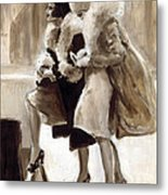 City Flappers Metal Print
