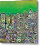 City Garden In Green Metal Print