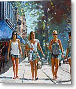 City Girls Metal Print