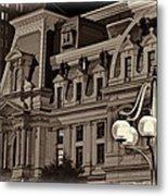 City Hall At Night Closeup Metal Print