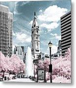 City Hall In Spring Metal Print
