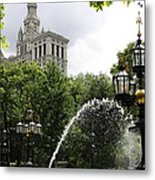 City Hall Park And Fountain Metal Print