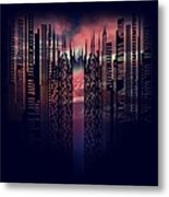 City In Love Metal Print