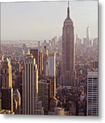 City In New Light Metal Print