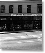 City Lights Booksellers Metal Print
