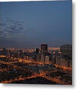 City Lights At Dawn Metal Print