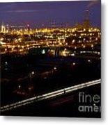 City Lights At Night Metal Print
