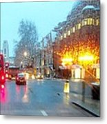 City Lights In London England Metal Print