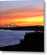 City Lights In The Sunset Metal Print