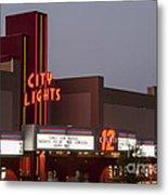 City Lights Marquee Metal Print