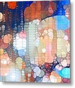 City Lights Urban Abstract Metal Print
