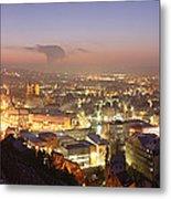 City Lit Up At Night, Esslingen Metal Print
