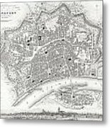 City Map Or Plan Of Frankfort Germany Metal Print