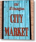 City Market Sign Metal Print