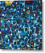 City Mosaic Metal Print