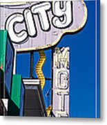 City Motel Las Vegas Metal Print