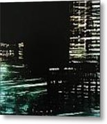 City Negative Metal Print