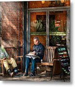 City - New York - Greenwich Village - The Path Cafe  Metal Print by Mike Savad