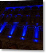 City Night Walks - Blue Highlights Facade Metal Print