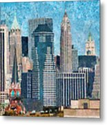 City - Ny - A Touch Of The City Metal Print