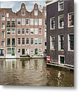 City Of Amsterdam Canal Houses Metal Print