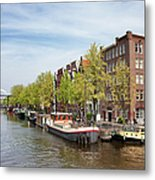 City Of Amsterdam In The Netherlands Metal Print