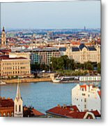City Of Budapest Cityscape Metal Print