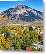 City Of Crested Butte Colorado Panorama   Metal Print