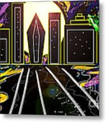 City Of Lights Metal Print