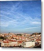 City Of Lisbon At Sunset Metal Print