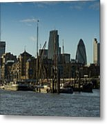 City Of London River Barges Wapping Metal Print