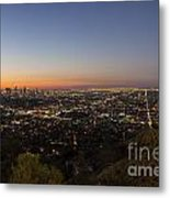 City Of Los Angeles Night Metal Print