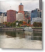 City Of Portland Oregon In The Fall Panorama Metal Print