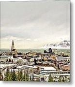 City Of Reykjavik  Metal Print
